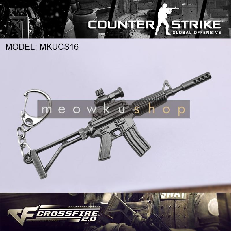 NEW 2017 M4A1 CSGO Counter-Strike CS CF2 CrossFire Metal Keychain