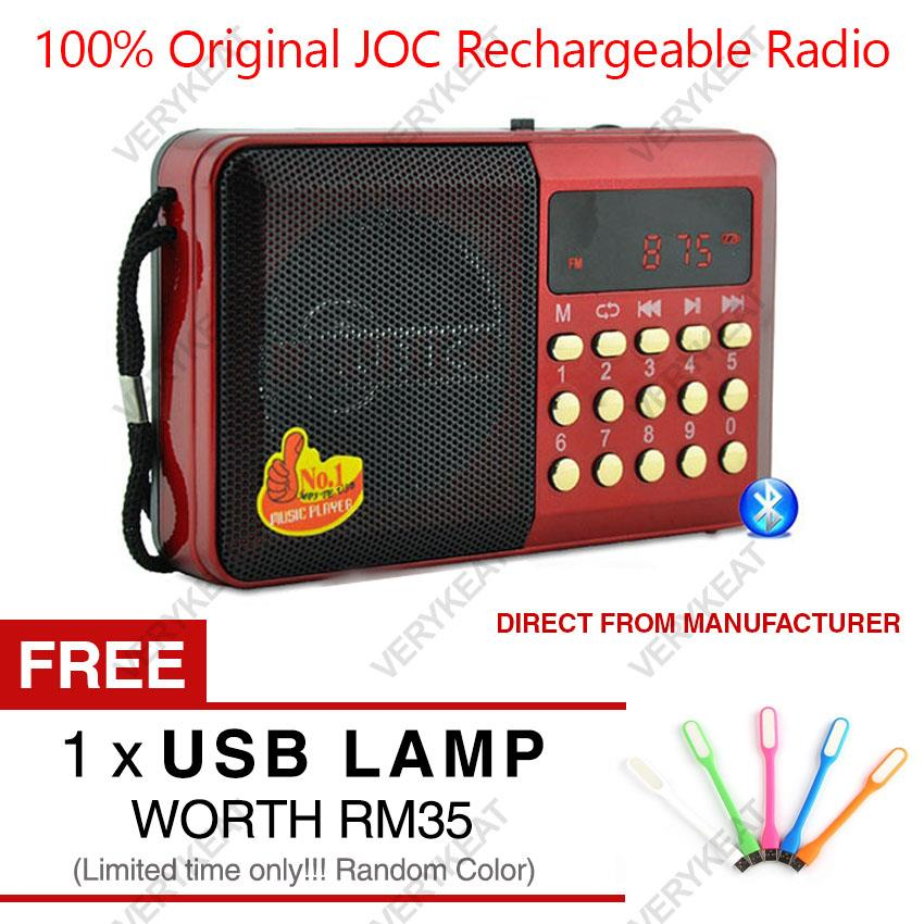 2017 Original JOC Rechargeable Radio USB Digital Music Player MP3 FM