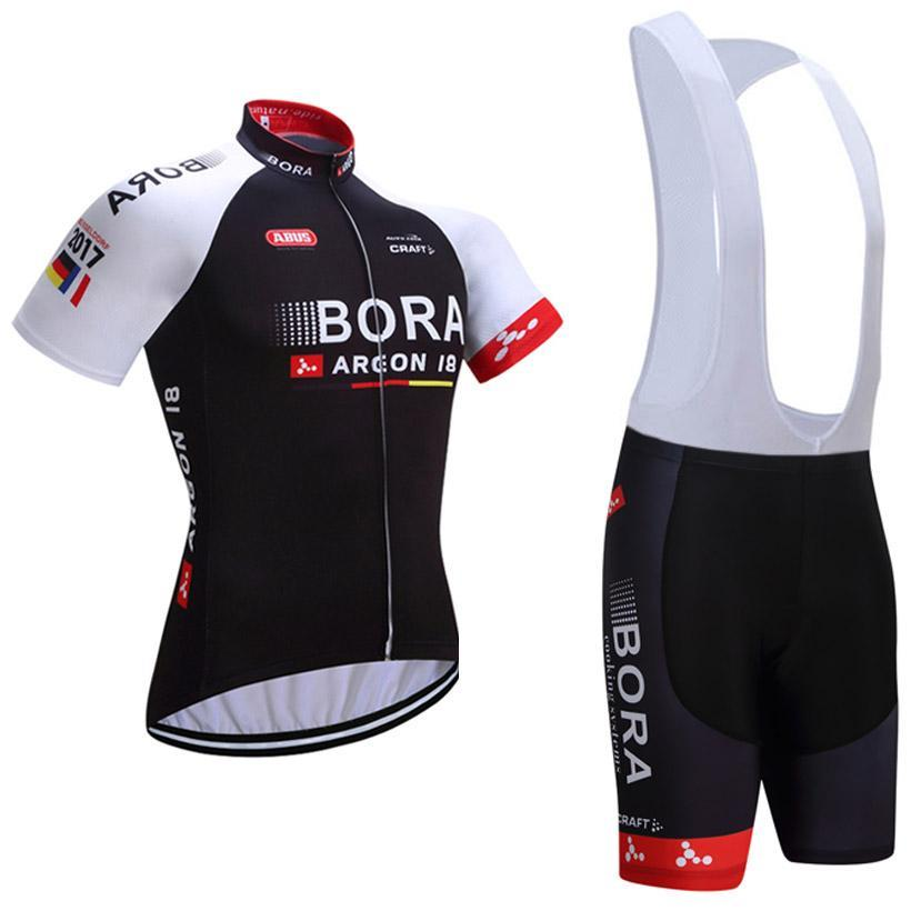 2017 Short Sleeve Cycling Jersey & Short BIB Pants Set (HSB063)