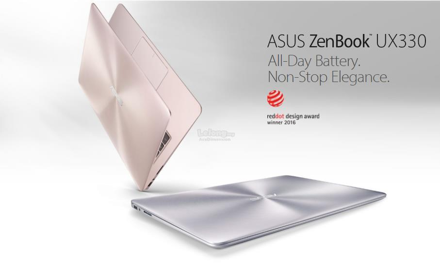 [22-May] Asus Zenbook UX330U-AFC065T Ultrabook *Intel i7-7500U* (Grey)