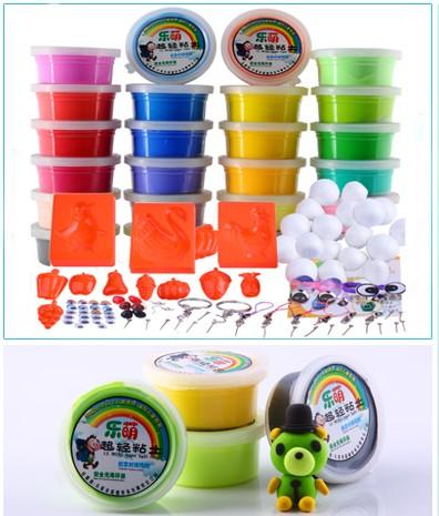 24 colours + tools & decorations light clay kid children toy eco frien