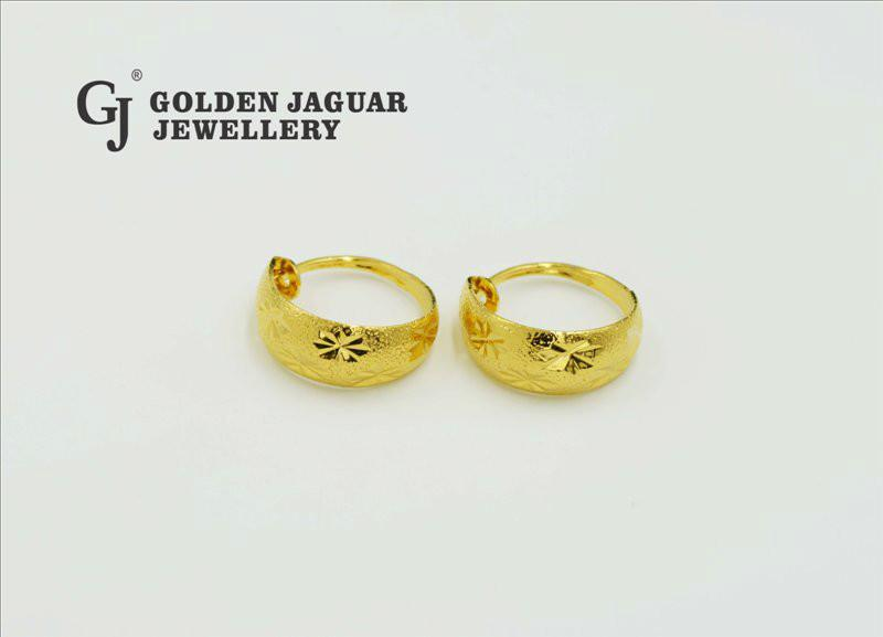 24K Emas Korea , Golden Jaguar24K Gold Plated Earrings (GJ-EA6701)