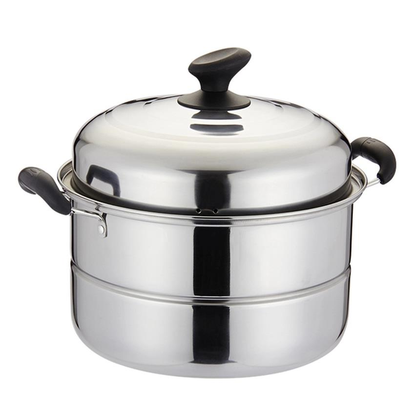 28cm DL Double Layer Stainless Steel Steamer