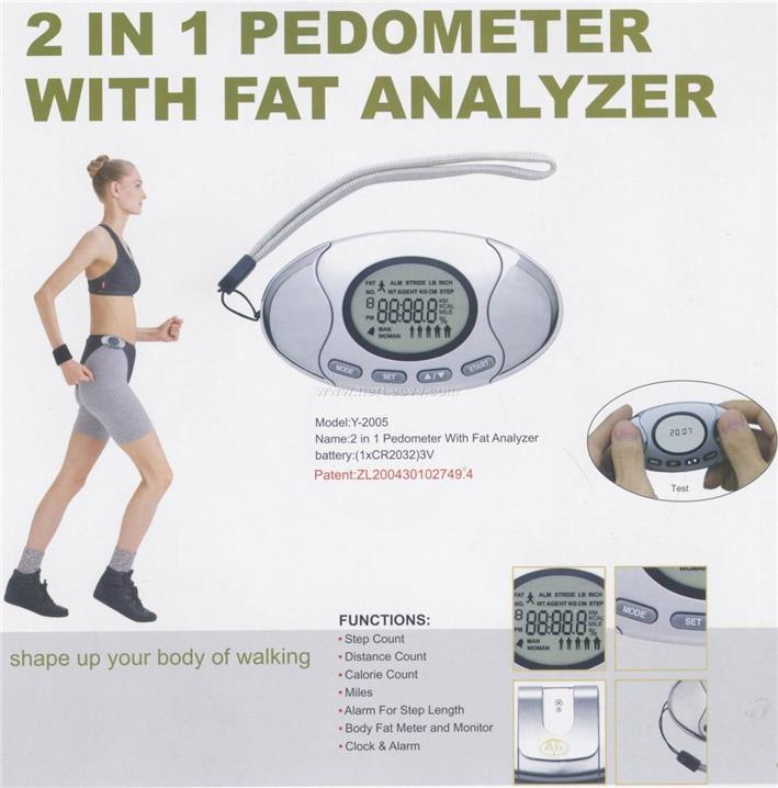 2pcs Multifunctional Body Fat Analyzer Pedometer Calorie Step Counter