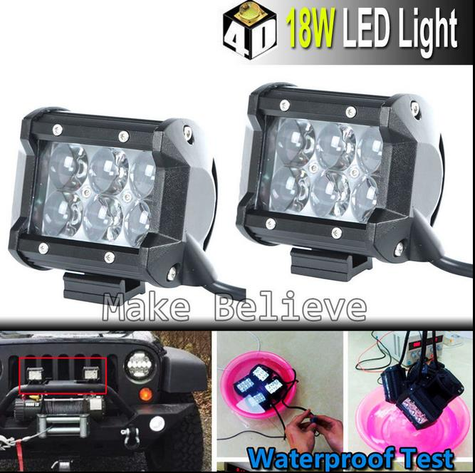 2PCS x 4' 18W 1260LM CREE LED Flood Light