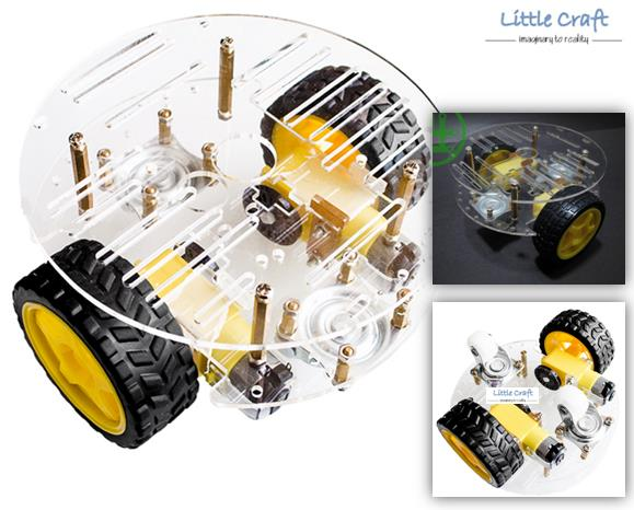 2WD 2 Layer Round Smart Robot Car Chassis Kit For Arduino