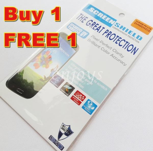 2x DIAMOND Clear 4H LCD Screen Protector Huawei Ascend P8 Lite