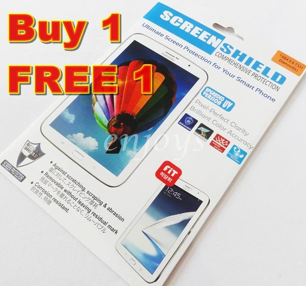 2x DIAMOND Clear LCD Screen Protector Samsung Galaxy Tab 4 8.0 T331