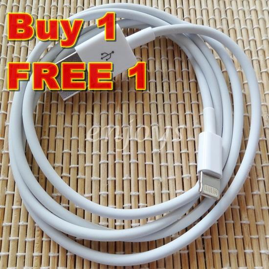 2x USB Charging Lightning Cable Apple iPhone 7 6 Plus 5 5C 5S iPad Air