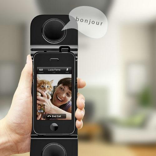 3-in-1 Wireless Mini Speaker for iPhone 5 - Can Be Used as Cell phone