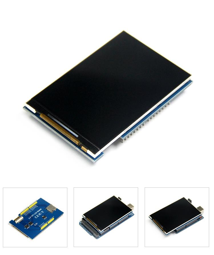 3.5 inch 480x320 TFT Display With SD Card Reader For Arduino
