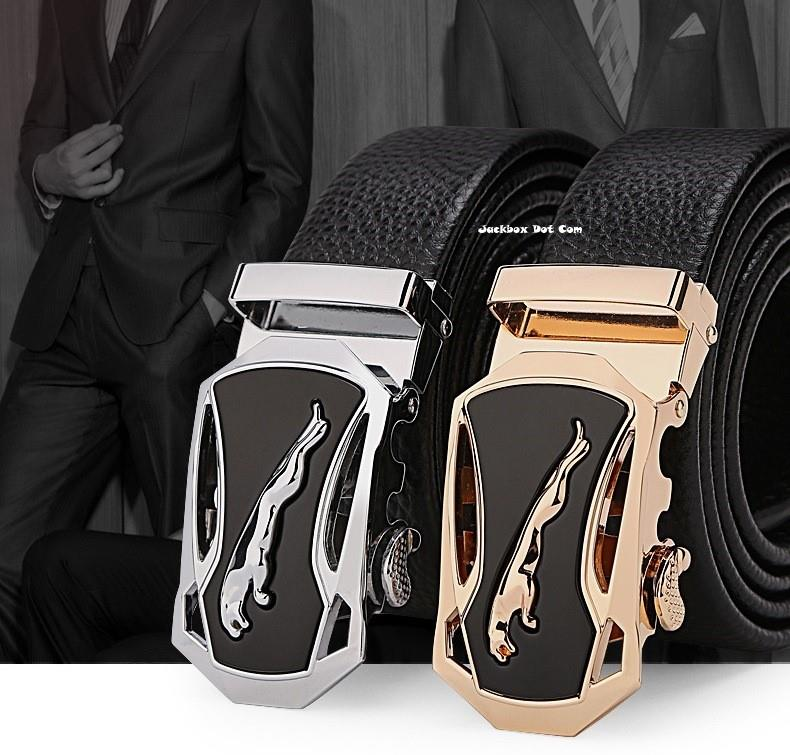 [3 Colours] Dante Premium Leather Jaguar Automatic Buckle Men's Belt