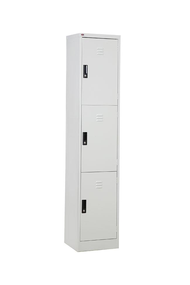 3 Compartment Door Steel Locker
