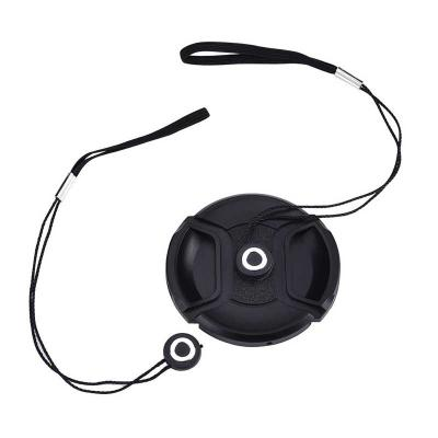 3 Pack Lens Cap Keeper Holder with Cleaning Cloth and Black Velvet Bag