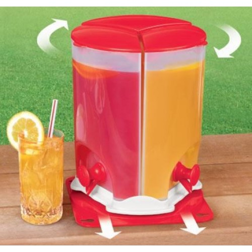 3 Rotating Compartment Water Drink Dispenser