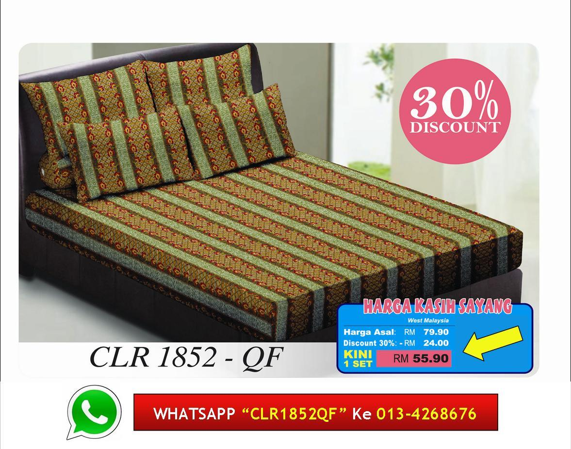 '30% Diskaun Clear Stok' Set Cadar Queen Fitted kod 1852QF Bedsheet