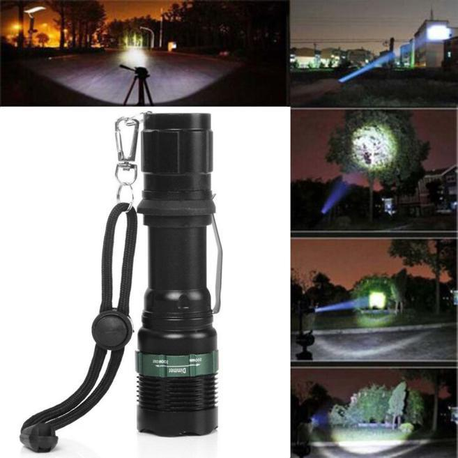 3000 Lumen Zoomable CREE XM-L Q5 LED Flashlight Torch Zoom Super Brigh