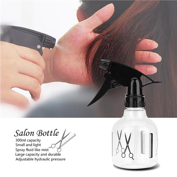 300ml Barber Salon Hairdressing Haircut Water Bottle Sprayer Mist Pump