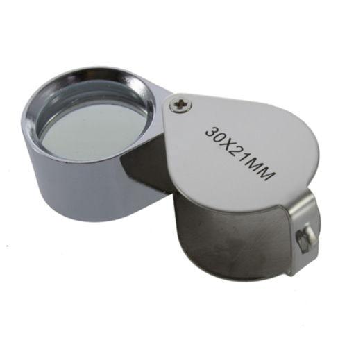 30X Glass Magnifying Magnifier Jeweler Eye Jewelry Loupe Loop