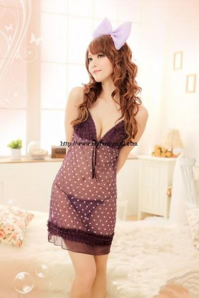 3253 Sleep Lingerie Underwear Pyjamas Nightwear Skirt+T