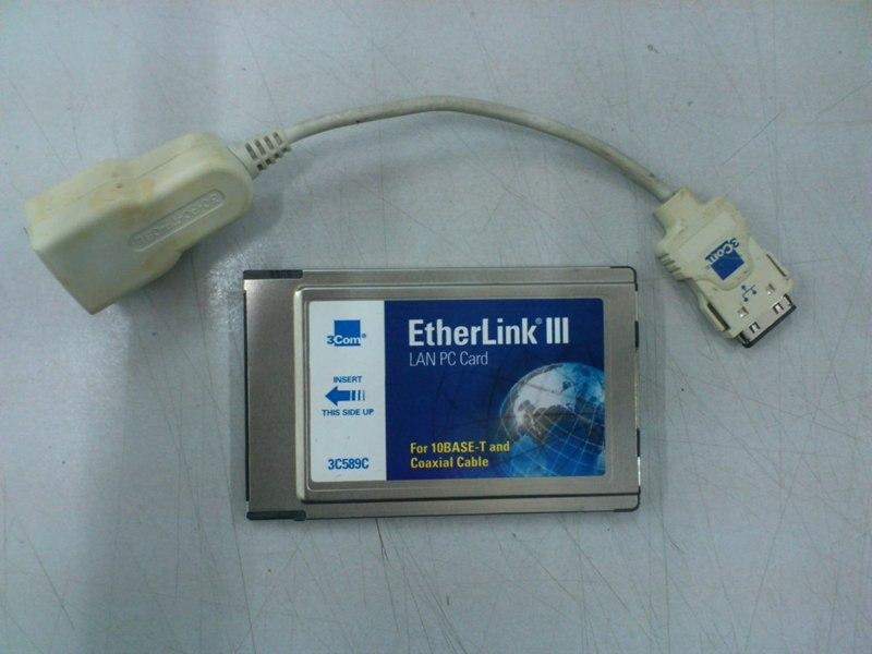 3Com 3C589C EtherLink III 10Mps PCMCIA Card 290813