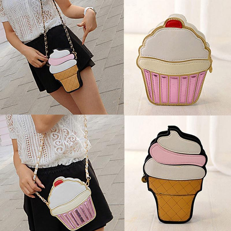 3D Cupcake Ice-cream Sling Bag Shoul (end 4/25/2018 5:15 PM)