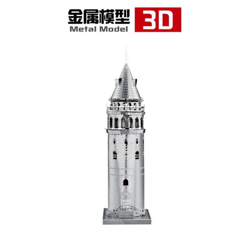 3D Models Metallic Nano Puzzle 3D Metal works Galata Tower
