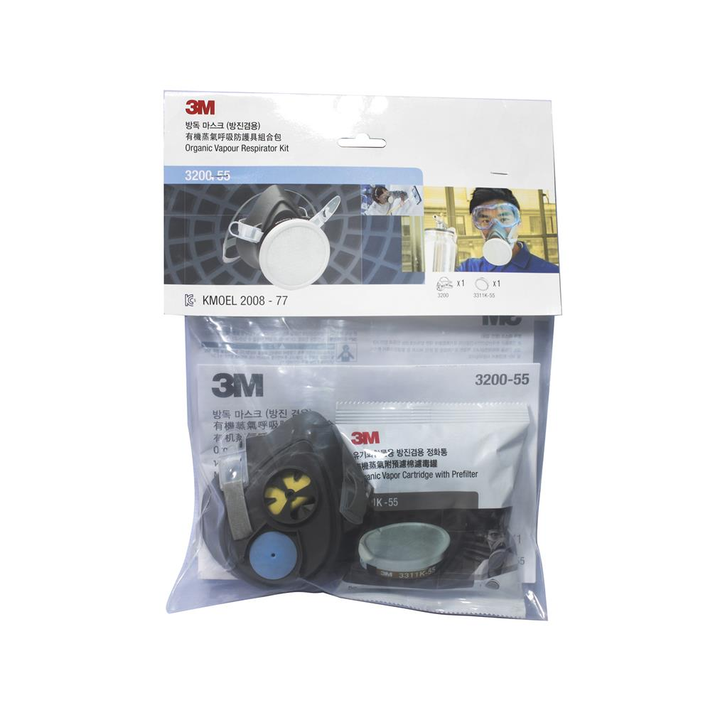 3M 3200 Half Facepiece Respirator & 3311K-55 Cartridge