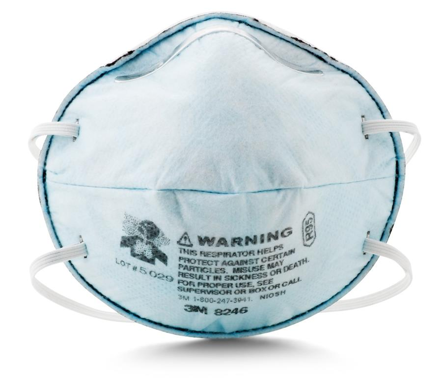 3M 8246 R95 Maintenance Free Respirator for Acid Gas 20pcs/box