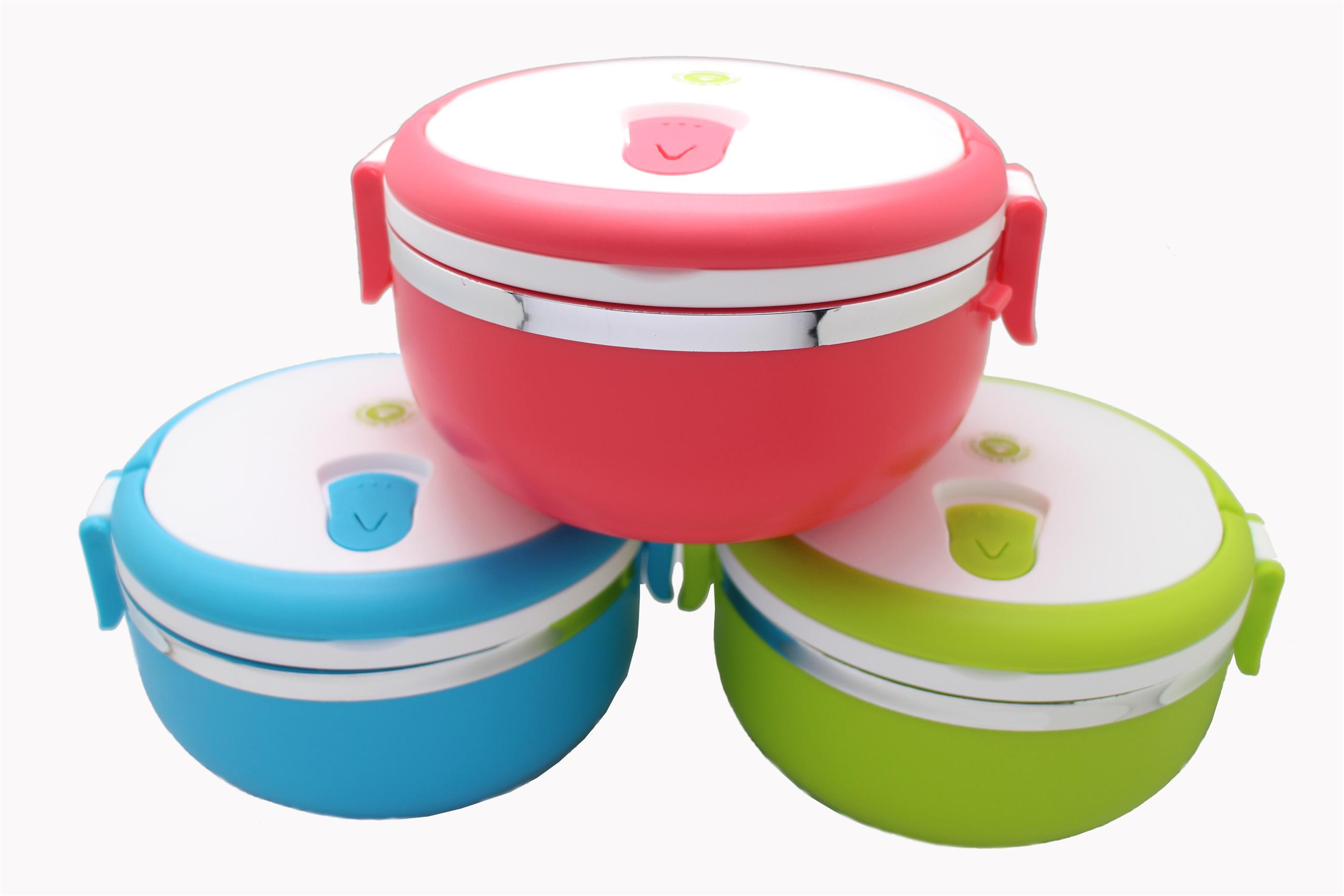 3pcs Airtight Lunch Boxes (Red, Green, Blue)
