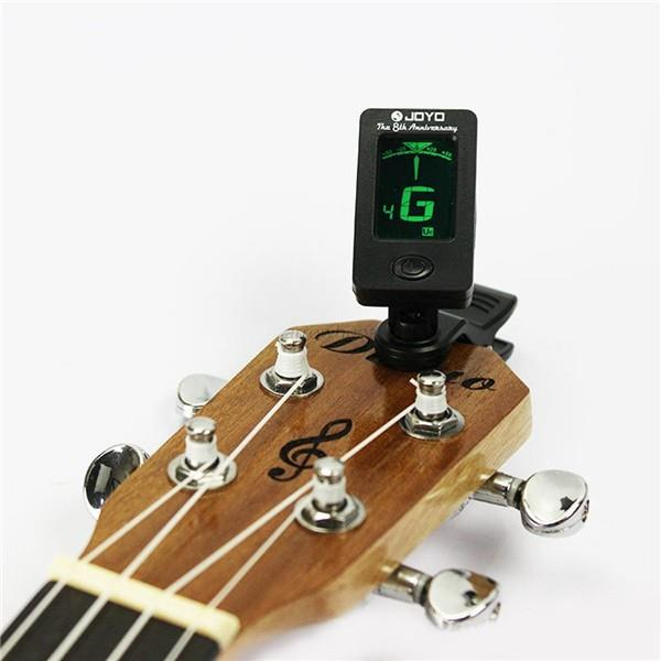 3pcs Clip-on Digital Chromatic Guitar Tuner Bass Violin Ukulele