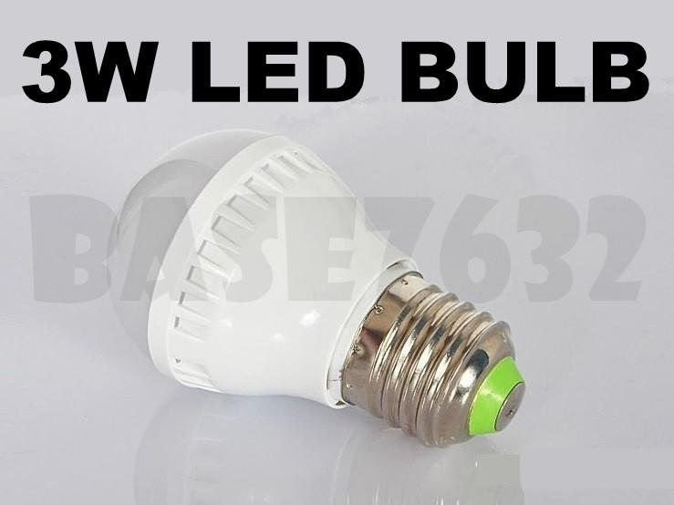 3W  Led Bulb Cool Warm White (2700-3500K) e27 White Shell 1490.1