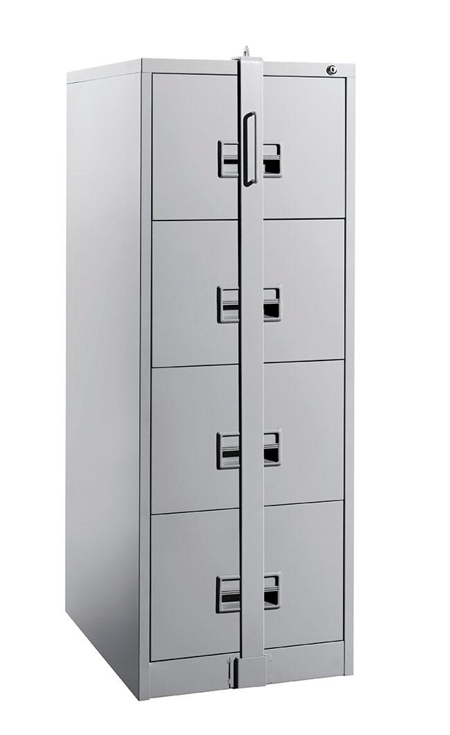 4 Drawer Steel Filing Cabinet C W Locking Bar