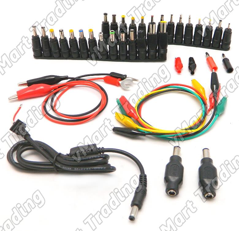 41-in1 DC Power Supply Cable + Connectors for Laptop Repair