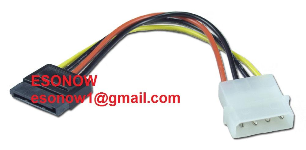 4pin Molex Male Power to Sata Female Power Connector Cable, 14cm