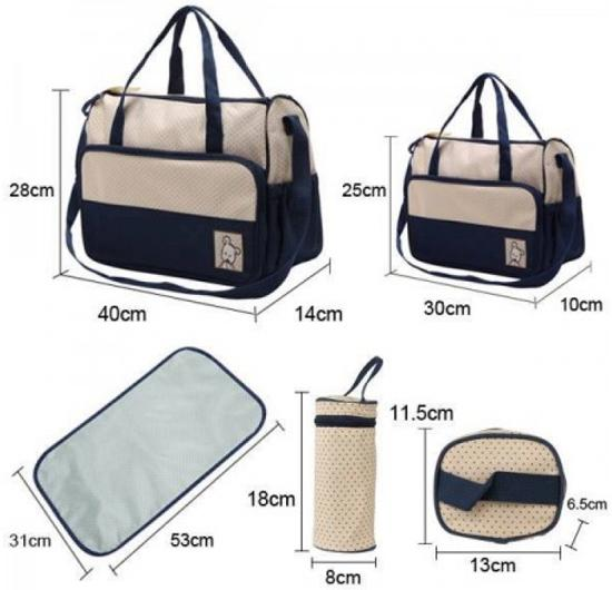 Image result for diaper bag 5 in 1 sizing
