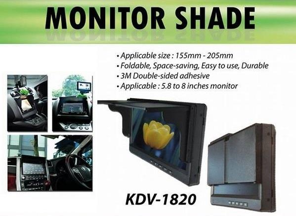 "5.8"" - 8"" Universal Double Din Player Anti Glare Monitor Shade (AL)"