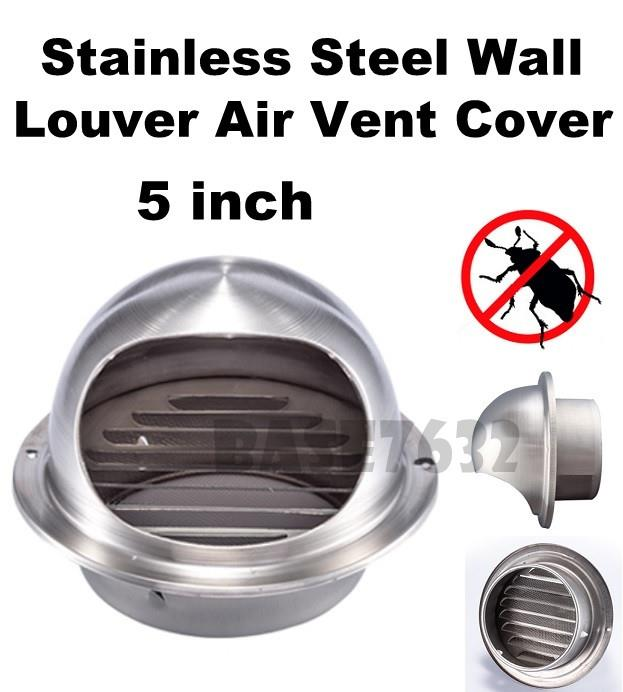 5 inch  inches Stainless Steel Wall Air Vent Cover Cap Bug Mesh Net