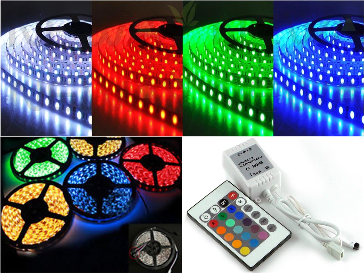 5 Meter RGB SMD5050 300 LED Flexible Strip (IP68)+Controller+Remote