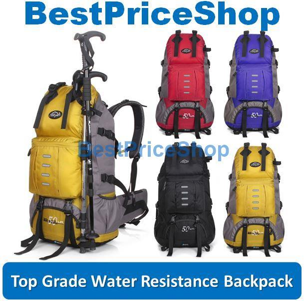 50L Waterproof Travel Backpack Hikin (end 8/11/2018 3:57 PM)