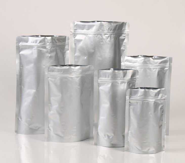 50pcs Pure Aluminium Silver Zip Lock Resealable Bag 13cm x 18cm