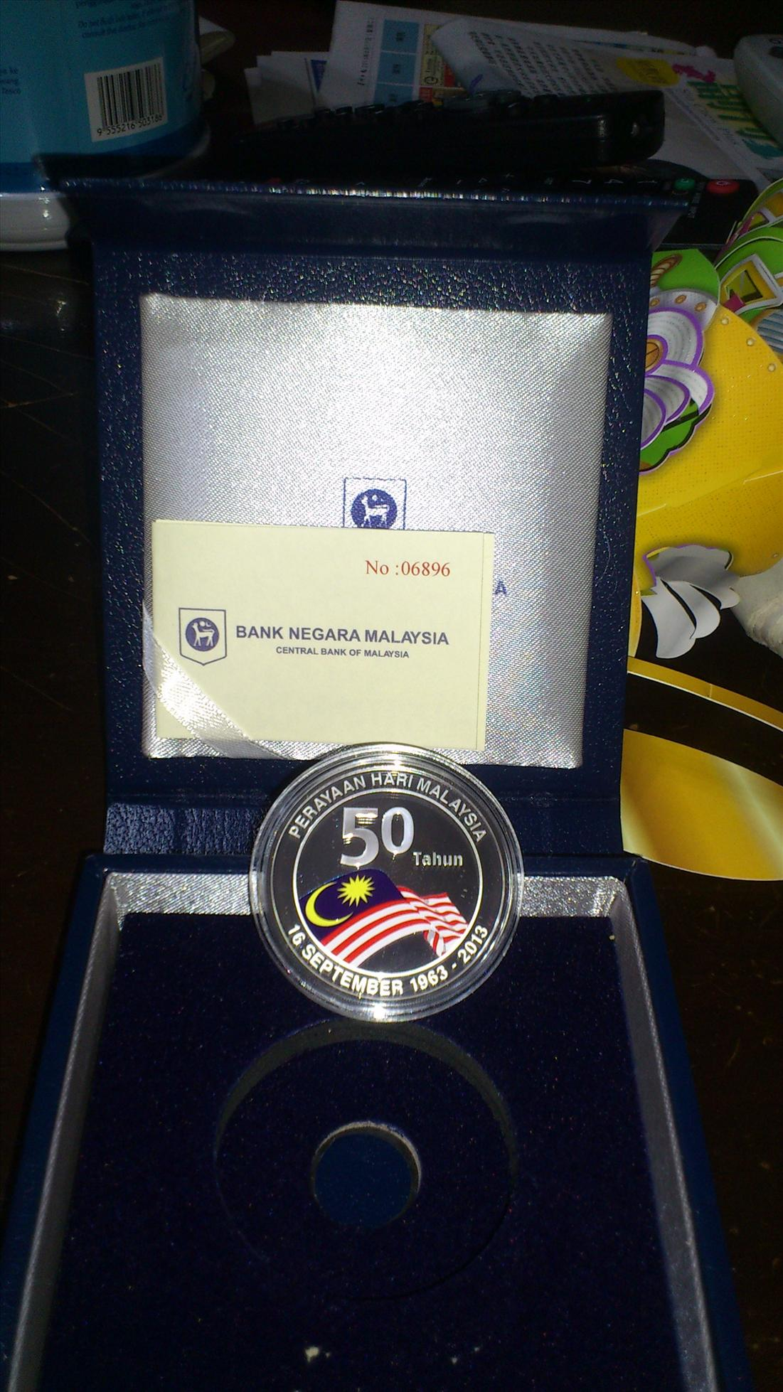 50th Malaysia Merdeka Formation Day, Silver Proof coin