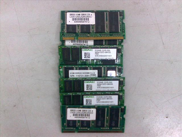 512MB DDR SODIMM Notebook RAM 040511