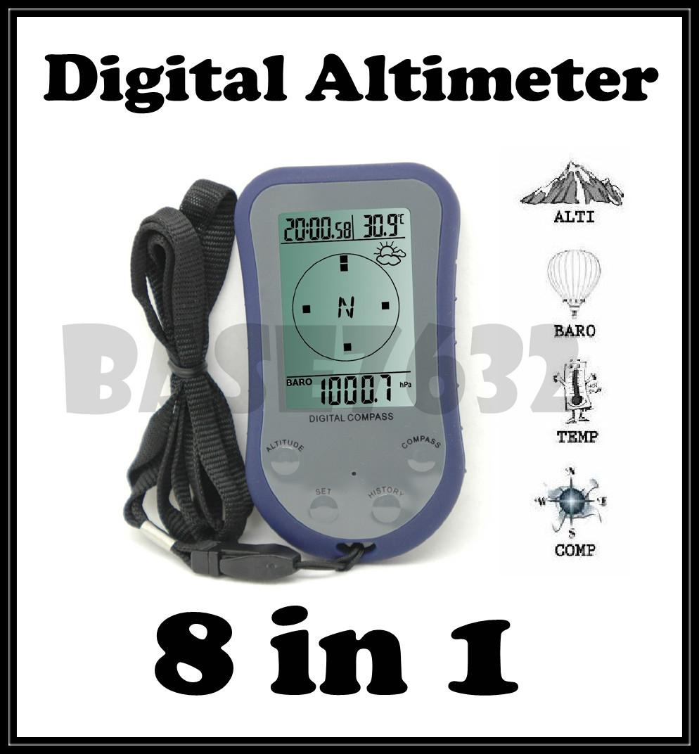 55% Off   8 in 1 Digital Compass Altimeter Barometer Thermometer