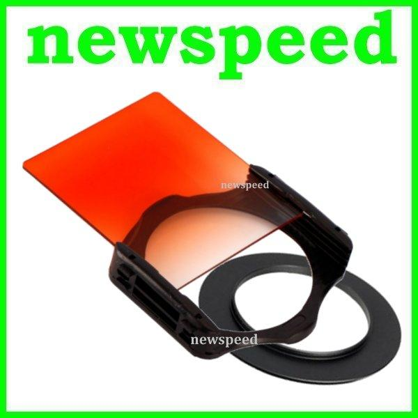 55mm SET Tianya Sunset Grad Orange Square Filter for Cokin P Series