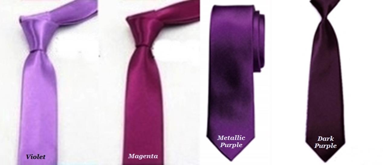 5cm Smart Classic Slim Neck Tie For Men & Women - Magenta