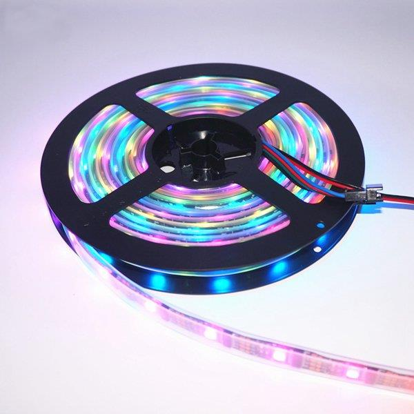 5M WS2812B IC SMD5050 Non-waterproof RGB LED Strip Light Individual Ad