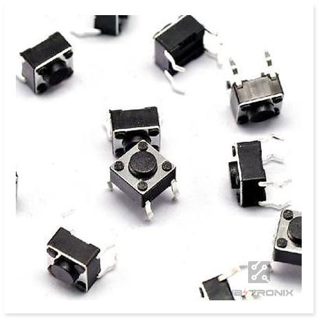 5pcs Tactile Switch Touch Push Button Key Tact Cooker 6 X 6 X 4.3mm