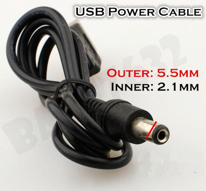 5V  USB Power PC to TV Converter Cable 5.5mm 2.1mm  Jack Connector