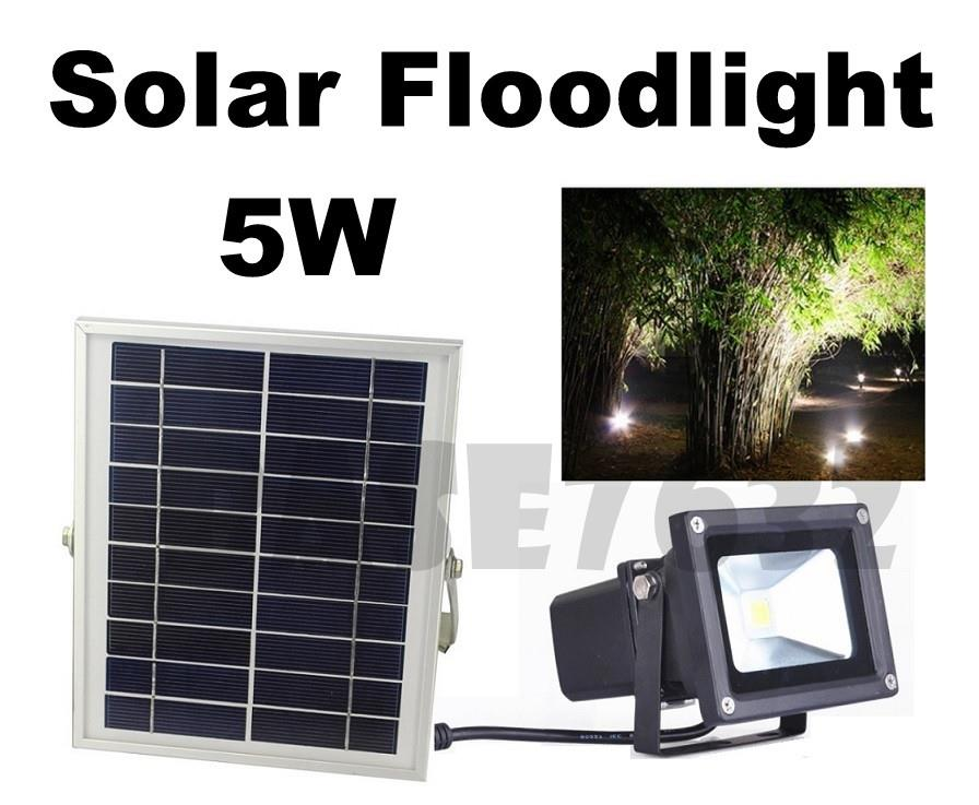 5w  LED Waterproof Solar Floodlight Spotlight Flood Light Garden Lamp